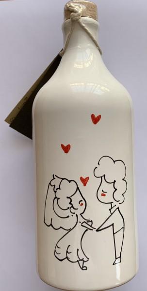 """Olio extra vergine im Terrakotta-Krug """"Love"""" - Muraglia"""