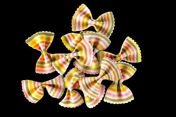 Farfalle Arcobaleno Bunte Nudel
