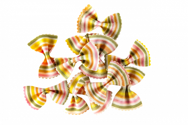 Farfalle Arcobaleno Bunte Nudel-Geschenke