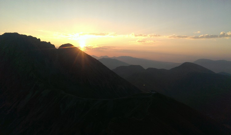 Sonnenaufgang 6 Uhr Morgens auf dem Ifinger mit meiner Schwester