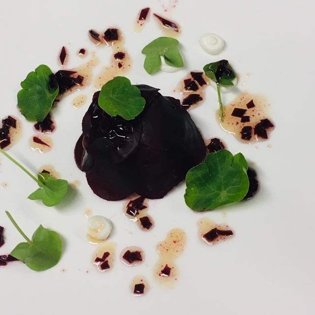 Rezept: Rindfleisch - Rote Beete - Ziegenkäse