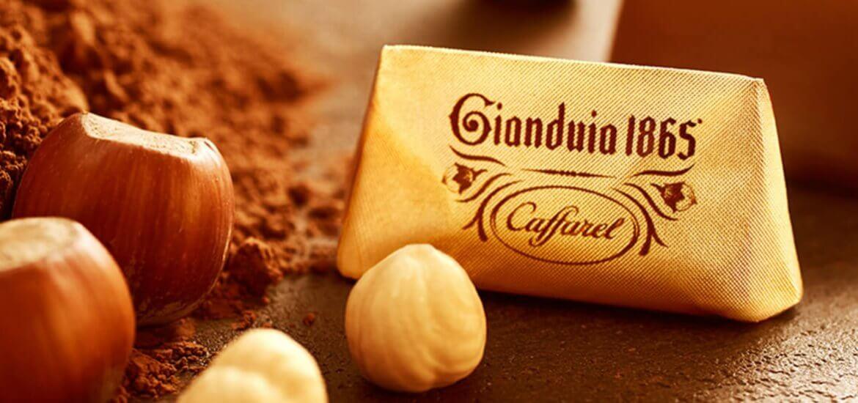 153 Jahre Gianduia, das berühmte Haselnussnougat von Caffarel aus dem Piemont, Italien...