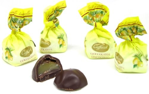 Pralinen aus dunkler Schokolade mit Limoncello