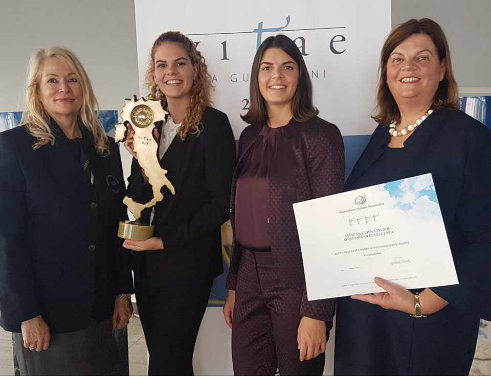 Pfannenstielhof: Höchste Auszeichnung der italienischen Sommeliervereinigung