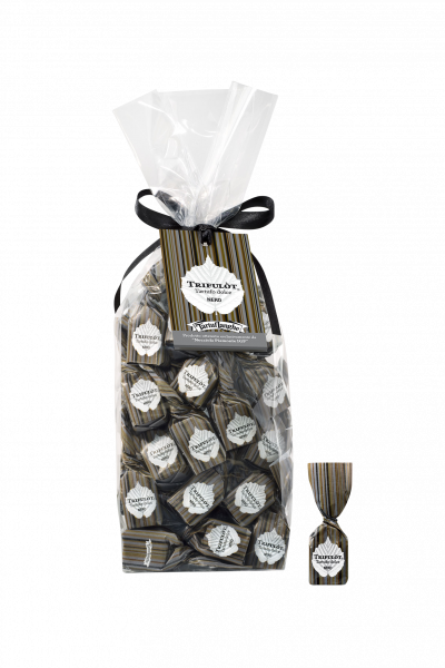 Pralinen mit Dunkler Schokolade und Haselnüssen TartufLangh
