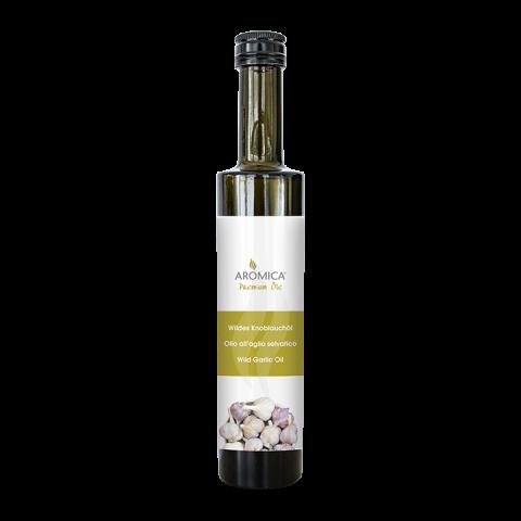 Olivenöl mit wildem Knoblauch
