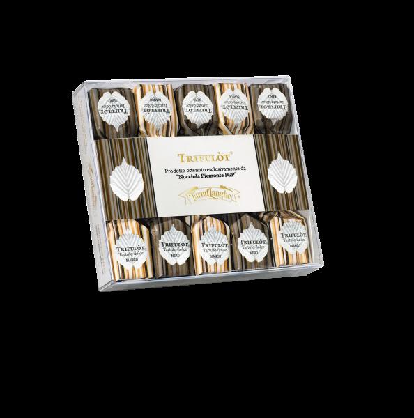 Schokopralinen mit Weißer und Dunkler Schokolade TartufLanghe