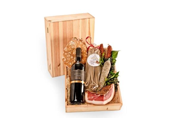 Gourmet in der Holzkiste