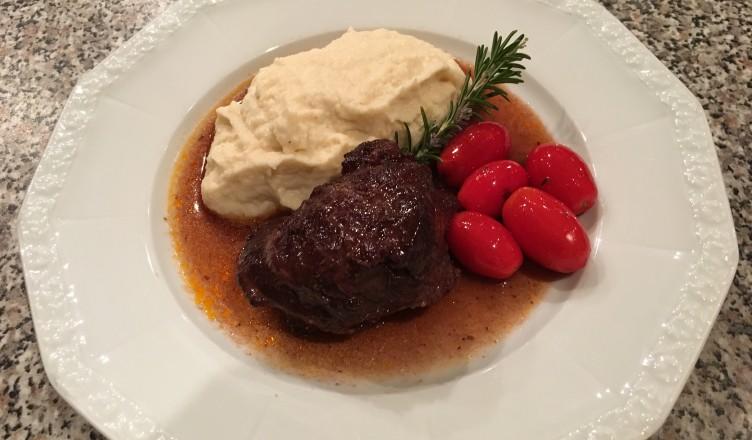 Rezept: Geschmorte Kalbswange mit Selleriepüree...