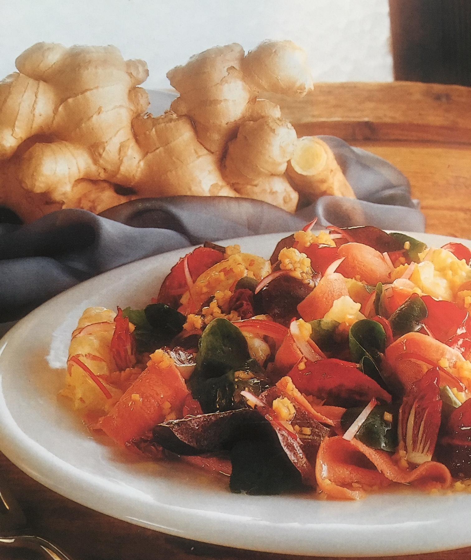 Rezept: Salat von der Kalbszunge mit Ingwerdressing