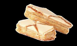 Handgemachtes Blätterteiggebäck mit Aprikosenglassur: Sfogliatine